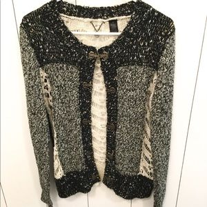 Bke Boutique lace sweater